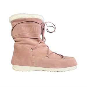 Moon boot Tecnica Butter Mid Boots Pink suede 10